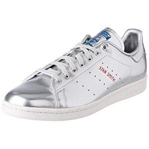 Adidas Men'S Stan Smith Sneaker, Silver Metallic Silver Metallic Crystal White, 11.5 Uk