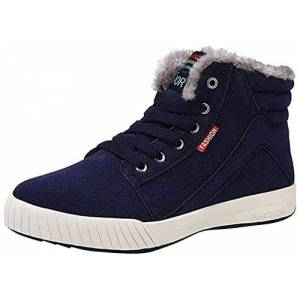 Cczz Booties Men'S Winter Warm Snow Boot Low-Top Trainers Skateboarding Shoes Anti-Slip Sneakers Hiking Trekking Shoes Lace-Up Ankle Boots Winter Casual Outdoor Boots Size 6-12 Uk