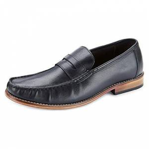 Samuel Windsor Men'S Handmade Italian Leather Penny Loafer Shoe In Black, Tan & Brown