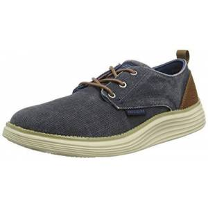 Skechers Status 2.0- Pexton, Mens Low-Top Sneakers Low-Top Sneakers, Blue (Navy Nvy), 9 Uk (43 Eu)