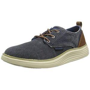 Skechers Status 2.0- Pexton, Mens Low-Top Sneakers Low-Top Sneakers, Blue (Navy Nvy), 8 Uk (42 Eu)