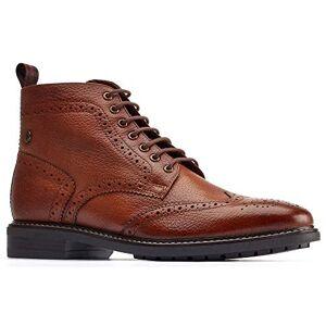 Base London Mens Berkley Leather Lace Up Brogue Boots Tan