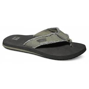 Quiksilver Men'S Monkey Abyss Flip Flops, Green (Green/black/brown), 9 Uk 43 Eu