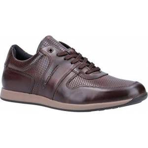 Base London Base Dakota Burnished Mens Leather Material Casual Shoes Brown - 6 Uk