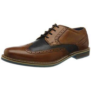 Bugatti 312854024141, Men'S Derby, Brown (Cognac/dark Blue 6341), 11 Uk (46 Eu)