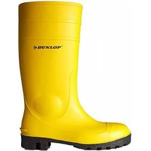 Dunlop Protective Footwear (Duo19) Unisex Adult'S Dunlop Protomastor Safety Rubber Boots Protomaster S5 Sra Size 12.5, Yellow, 13