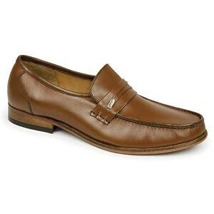 Samuel Windsor Men'S Handmade Italian Leather Penny Loafer Shoe In Black, Tan & Brown