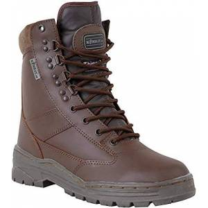 Kombat UK Men's All Leather Patrol Boots, MOD Brown, 5 UK (39 EU)