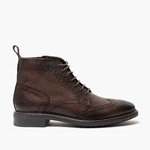Base London Berkley Mens Leather Brogue Boots Brown 10.5