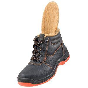 Urgent Winter/warm Lining Lightweight Safety Boots Anti Static Slip Resistant Steel Toe Cap 106 Sb (6.5 Uk - 39 Eu) Black