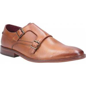 Base London Base Montage Washed Mens Leather Material Formal Shoes Tan - 11 Uk