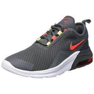 Nike Unisex Babies Air Max Motion 2 (Gs) Gymnastics Shoes, Iron Grey/bright Crimson-Limelight-White, 4.5 Uk