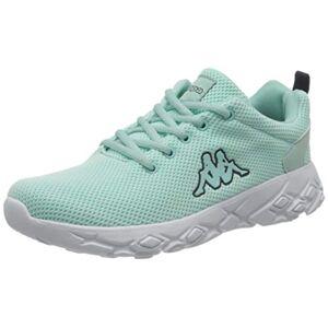 Kappa Unisex Adults Cliffin Knt Sneaker, 3767 Mint/navy, 5 Uk