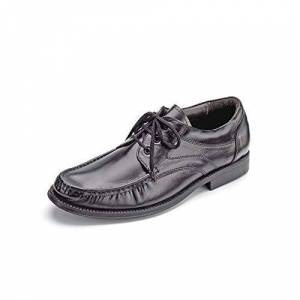 Clifford James Mens Loafer Leather Upper Comfortable Black Lace-Up Shoe With Leather Sole Uk 8.5
