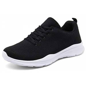 Dafenp Unisex Men Women Running Shoes Trainers Sport Shoes Athletic Walking Gym Casual Sneakers (5 Uk, A Black)
