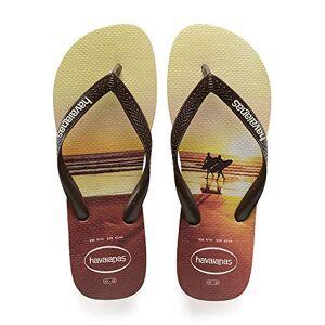 Havaianas Men'S Hype Flip Flops, Sand Grey/dark Brown, 4/5 Uk 39/40 Eu