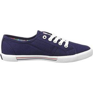 Pepe Jeans Womens Aberlady Basic 17 Low-Top Sneakers, Blue (Navy), 3.5 Uk (36 Eu)