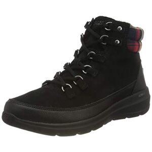 Skechers Women'S Glacial Ultra-Peak Ankle Boot, Black Suede, 4.5 Uk