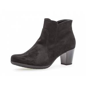 Gabor Women Ankle Boots 35.680, Ladies Boots,Half Boots,Ankle Boots,Bootie,Ankle High,Zipper,Schwarz,38 Eu / 5 Uk