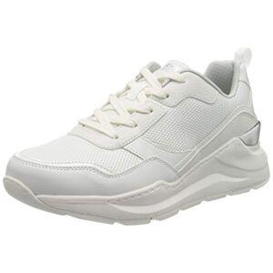 Skechers Rovina Clean Sheen, Women'S Low-Top Trainers, White (White Mesh/leather/durapatent Trim Wht), 6.5 Uk (39.5 Eu)