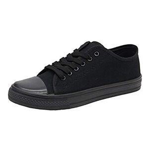 Saute Styles Ladies Women Girls Flat Lace Up Canvas Plimsolls Trainer Skater Pumps Shoes Size 4