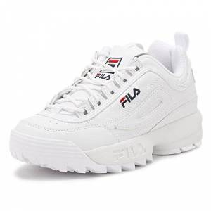 Fila Womens White Disruptor Low Trainers-Uk 7