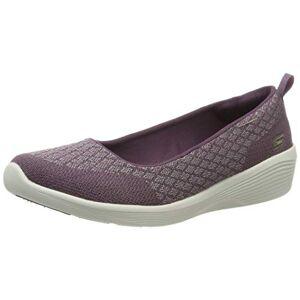 Skechers Women'S Arya - Get Real Closed Toe Ballet Flats, Purple (Purple Pur), 3 Uk (36 Eu)