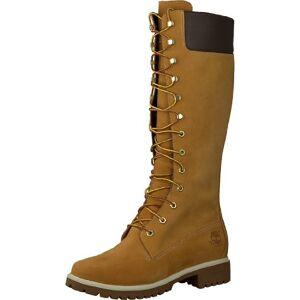 Timberland Women'S Premium 14 Inch Waterproof Lace-Up Boots, Yellow (Wheat Nubuck), 7 Uk 40 Eu