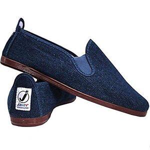 Funkyfashion Unisex Womens Mens Ladies Javer Flossy Espadrilles Plimsoll Flat Shoes Pumps (40 (Uk7), Tejano (Denim))