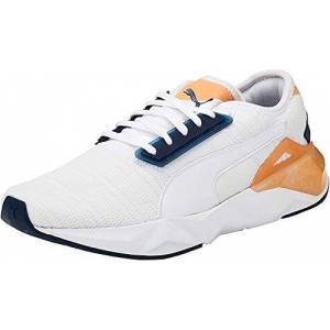 Puma Women'S Cell Plasmic Wn'S Indoor Sneakers, White White/dark Denim/cantaloupe 05, 5.5 Uk 38.5 Eu