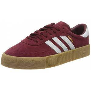 Adidas Women'S F36268_38 2/3 Low-Top Sneakers, Burgundy, 5.5 Uk
