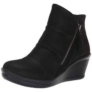 Skechers Women'S Rumblers-Ruched Vamp Bootie With Tassel Ankle Boot, Black, 2.5 Uk