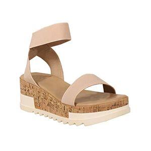 Yoki Women'S Brenda-10 Flat Sandal, Beige, 4 Uk