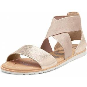Sorel Women'S Metallic Leather Ella Sandals Gold 5