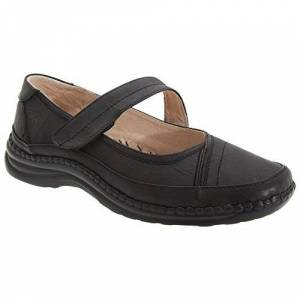 Boulevard Womens/ladies Extra Wide Eee Fitting Mary Jane Shoes (6 Uk) (Black)