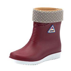 Yvelands Waterproof Wellington Boots Women Ladies Winter Warm Rain Wellies Boots Pvc Flat Comfortable Slip On Water Boots Shoes Red