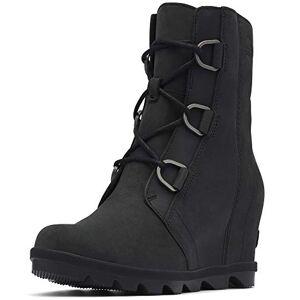 Sorel Women'S Nubuck Leather Joan Of Arctic Wedge Boots 5.5 Black