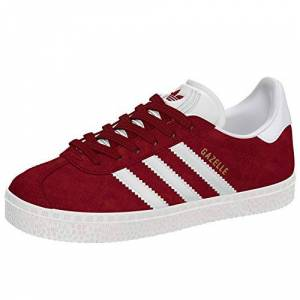 adidas Gazelle, Unisex Kids' Low-Top Sneakers, Red (Collegiate Burgundy/ftwr White), 12.5 Child Uk