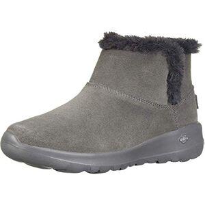 Skechers On-The-Go Joy - Bundle Up, Women'S Ankle Boots, Grey (Charcoal Suede Charcoal), 3 Uk (36 Eu)