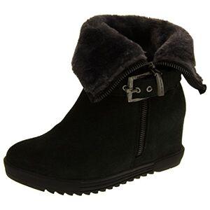 Footwear Studio Keddo Womens Grey Faux Fur Lined Wedge Heel Ankle Boots Uk 7