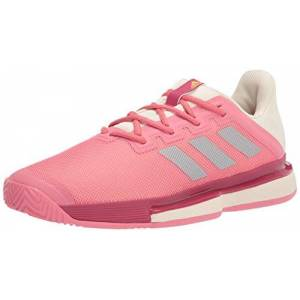 adidas Women'S Solematch Bounce Hazy Rose/silver Metallic/acid Orange 6
