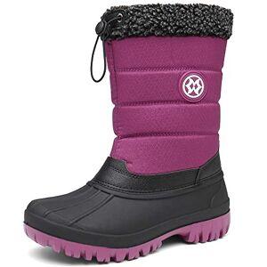 Gaatpot Womens Winter Snow Boots Warm Fur Lined Outdoor Waterproof Mucker Yard Walking Wellies Boots Shoes For Dog Walkers Size Wine-Red Uk7.5=41eu
