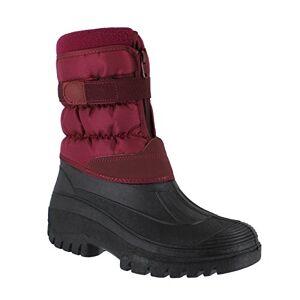 Groundwork Ls87 Womens Muckers Mukker Stable Winter Waterproof Lined Snow Boots Uk 5 Burgundy