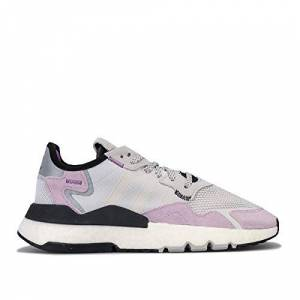 adidas Originals Women'S Nite Jogger Trainers In Grey Pink Size Uk 4.5