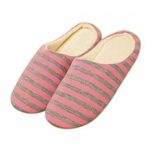 Bigboba Ladies' Faux Fur Trim Slip On Mule Slippers Shoes Size Pink