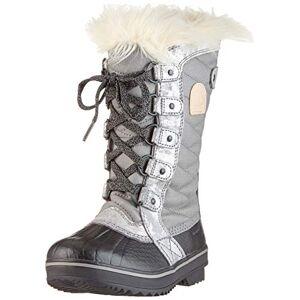 Sorel Youth Unisex'S Tofino Ii' Snow Boots, Grey (Quarry, Natural Tan), 3.5 Uk