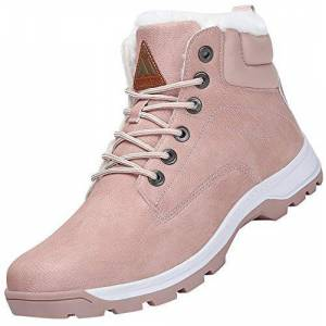 Mishansha Womens Snow Boots Ladies Warm Winter Ankle Boots Fully Fur Lined Non Slip Waterproof Snow Shoes Style1 Pink 3.5 Uk