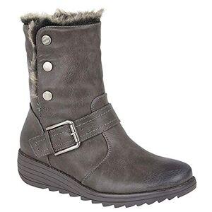 Cipriata Coralla Ladies Fur Collar Ankle Boots Grey Uk 6