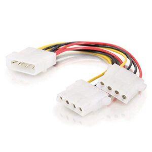 C2G 15CM 5.25 LP4 Male Molex to 2 x LP4 Female Molex Cable Splitter/Extender, Molex Y-Cable 1 Foot