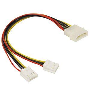 C2G 25CM 3.5 LP4 Male Molex to 2 x Female Mini Cable Splitter Extender. Molex Y Cable
